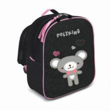 Backpack, Made of Jean + 210D/PU Lining Materials with Inner Zipper Pocket, Special Zipper Puller