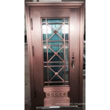 Stylish Glass Luxurious Inexpensive Copper Door