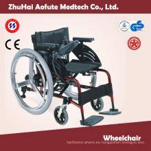 Silla de ruedas de acero con certificado ISO13485