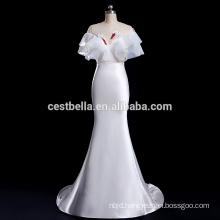 V-Neck Guangzhou wedding dress factory exotic Satin Wedding Dress