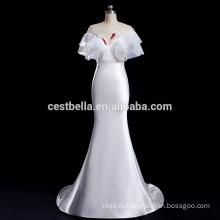 V-образным вырезом свадебное платье Гуанчжоу завод экзотических атласная свадебное платье
