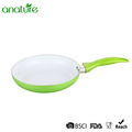 9 Inch White Ceramic Green Nonstick Fry Pan