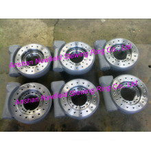 Slewing drive of rotary device in stock