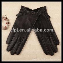 2012 nouvelle femme de gants en cuir de base conçue