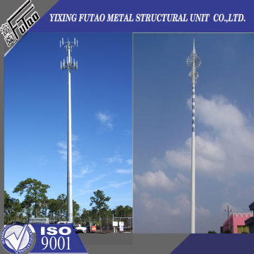 25M Galvanized Pole For Telecommunication