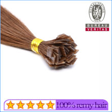 """18"""" Flat Tip Virgin Remy Human Hair Extensions Best Quality Pre-Bonded Hair Brown Silk Straight Thick Hair End Double Drawn"""