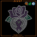 Rose and ribbon rhinestone t shirt transfers wholesale