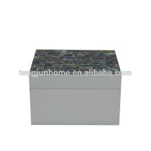 CPA-WPSBS Boîte à bijoux Paua Shell Nouvelle-Zélande avec peinture blanche