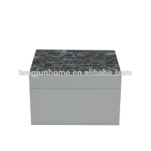 CPA-WPSBS New Zealand Paua Shell Jewelry Box with White Paint