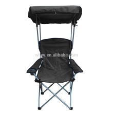 Outdoor folding canopy chair