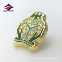 Kundenspezifische deliacate Metall Goldbank spezielle Nigeria Abzeichen