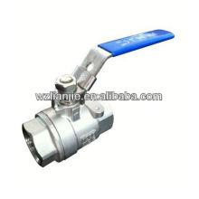 2PC inoxidável aço bola cheia válvula, parafuso termina