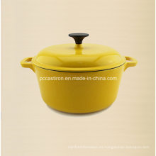 Diámetro redondo los 20cm de la cocina del arrabio del esmalte de 2.5L