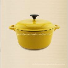 2.5L Round Enamel Cast Iron Cookware Dia 20cm