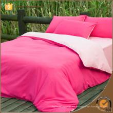 Juego de cama de doble cara de color sólido / ropa de cama / sábana