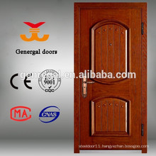 Modern Steel frame armored entry wood face door