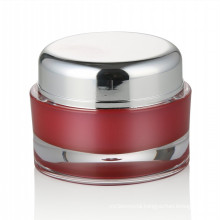 30/50ml red plastic jar cosmetic skin care jar cosmetic with aluminum screw cap acrylic cosmetic jar wholesale