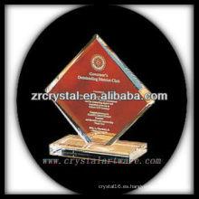 diseño atractivo trofeo de cristal en blanco X056