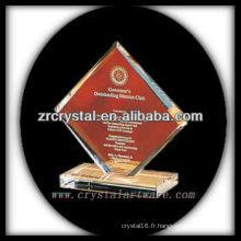 design attrayant blanc trophée de cristal X056