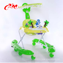Made in China baby walker with safety belt /Quality rolling baby walker china factory
