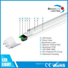 Conducteur isolé 5 ans de garantie 9W 60cm T8 LED Tube