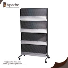 Wholesale Metal moveable newspaper display shelves garage