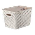 Creative Weave Design Boîte de rangement en plastique pour le stockage (SLSN065)