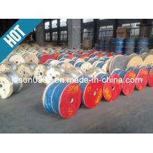 Cordas de arame de aço galvanizado, corda de aço, corda de aço inoxidável