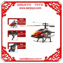 Juguete del helicóptero del control de radio 2.4G 4ch con la sola cuchilla del girocompás