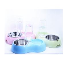 Cão de estação de água de animal de estimação saudável e sistema de água de gato com tigela de aço inoxidável