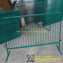 Galvanized Powder Coated Crowd Control Fence
