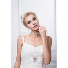 spaghetti strap bodice accept lace wedding dress