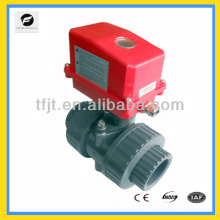 Plastic upvc mini ball valve 2-way motorized valve for Fan coil and,hot water cycle system