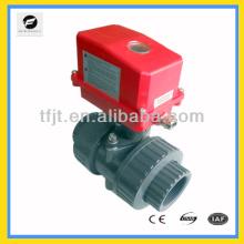 Пластиковые ПВХ мини-шаровой клапан 2-х ходовой клапан для фанкойлов и горячая вода цикл