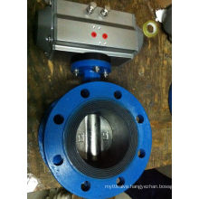 Pneumatic Actuator Flanged Butterfly Valve with EPDM Seat