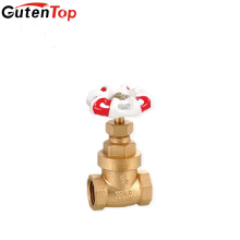 "Guten top iron handle 1/2"" inch 200 WOG brass gate valve"