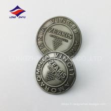 Insigne de souvenir en métal antique en métal personnalisé