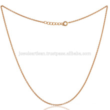 Латунь Змея цепочка желтое золото тонированное напылением в 16-дюймовый тонкий Размер мода подарок