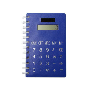 Solar Power 8 Digits Coil Notebook Calculator