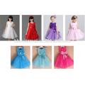 2017 красочные девушки платье один шт наряды 3-летний девушка платье с бабочкой для свадьбы