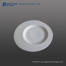 Delicate Unique Shaped Relief Bulk Custom Impresso Catering Dinner Plates
