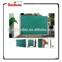 Toldo lateral de aluminio retráctil al aire libre