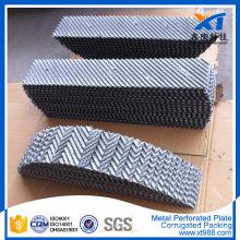 Embalaje corrugado de la torre del embalaje de la placa perforada del metal