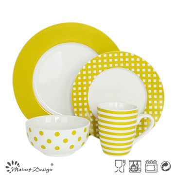 16PCS Porcelain Dinner Set for Four Persons with Decal
