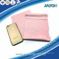 Pano rosa telefone microfibra móvel
