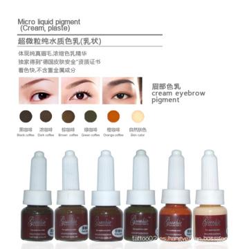 Pigmento Crema Goochie para maquillaje permanente de cejas