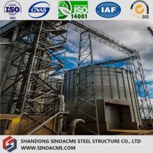 Structure en acier lourde de botte pour l'appui de réservoir d'usine chimique