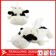 Cute plush animal tissue paper box