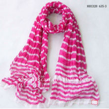 Online striped crinkle fabric wholesale scarf