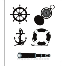 Ocean ship Clear stamps for scrapbook